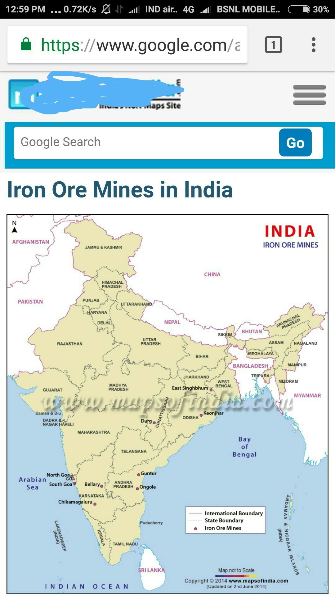 Iron ore mines in Indian map - Brainly in