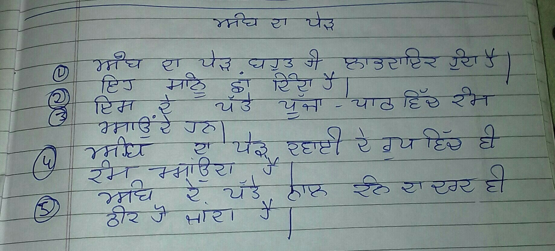 my question is write lines on mango tree in punjabi - Brainly in