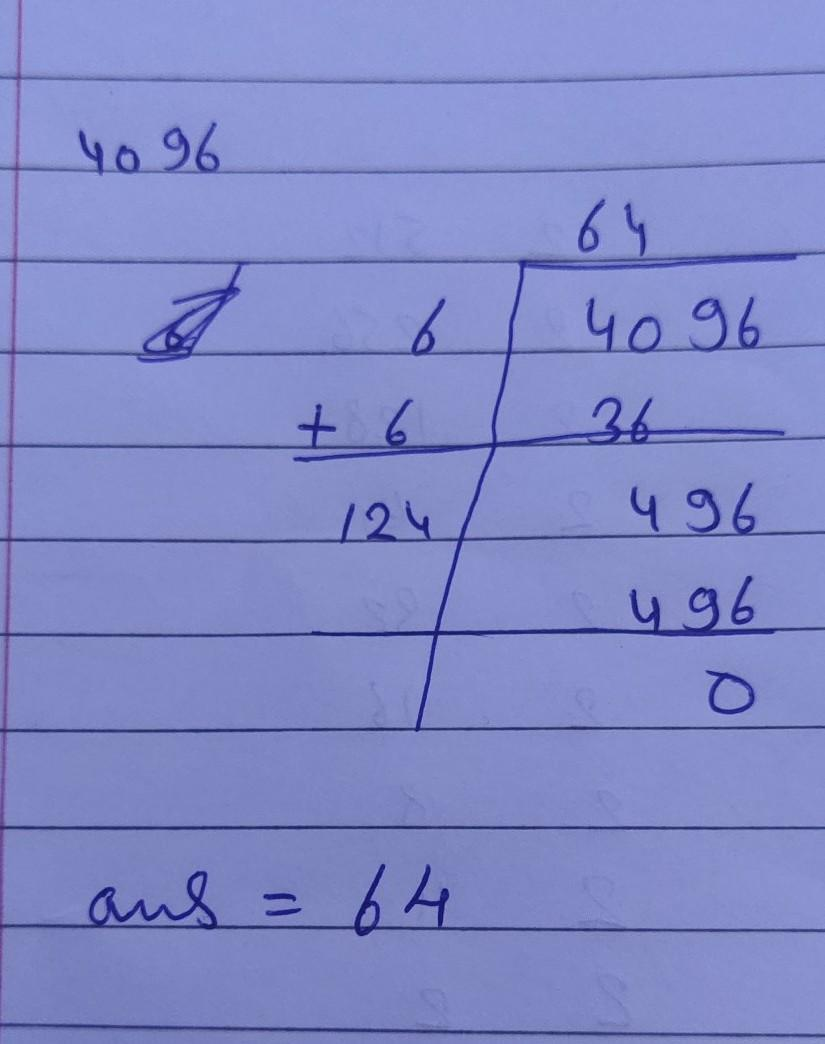 Find the square root using long division method of 19600