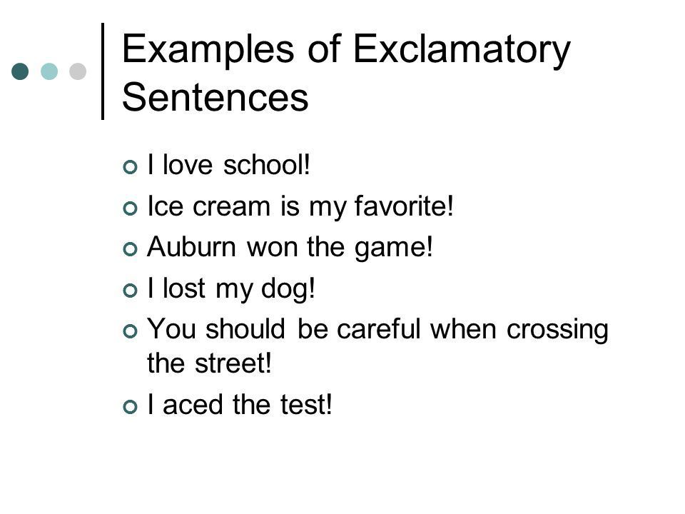 20 Examples On Exclamatory Sentence Brainly