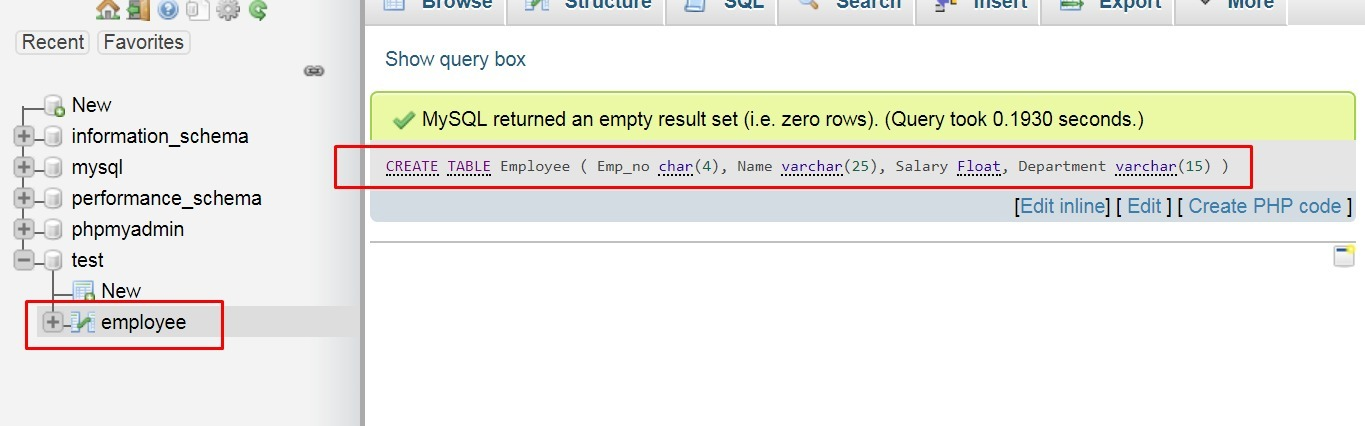Write an SQL query to create a table with the following