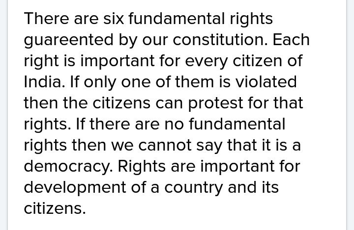 importance of fundamental rights in our life