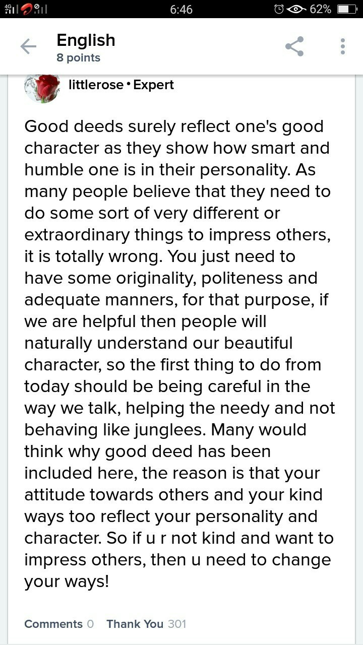 Essay Good Character