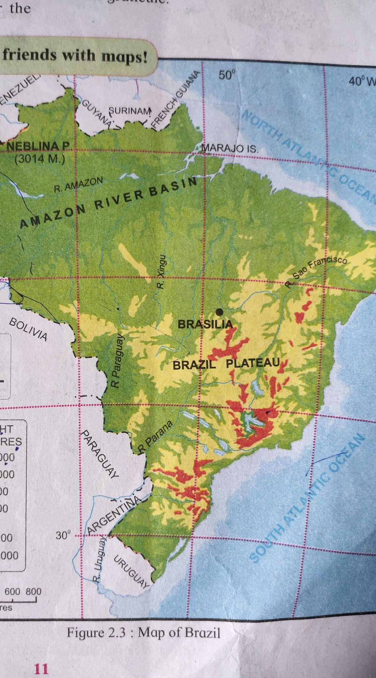 Picture of: 1 Which Latitude And Longitude Define The Locationof The Capital Of Brazil Brasilia What Would Be Brainly In