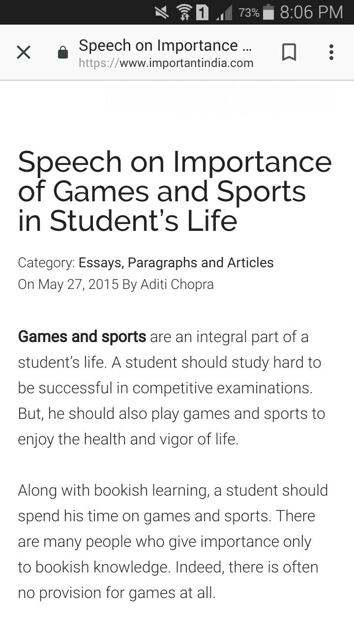 importance of games