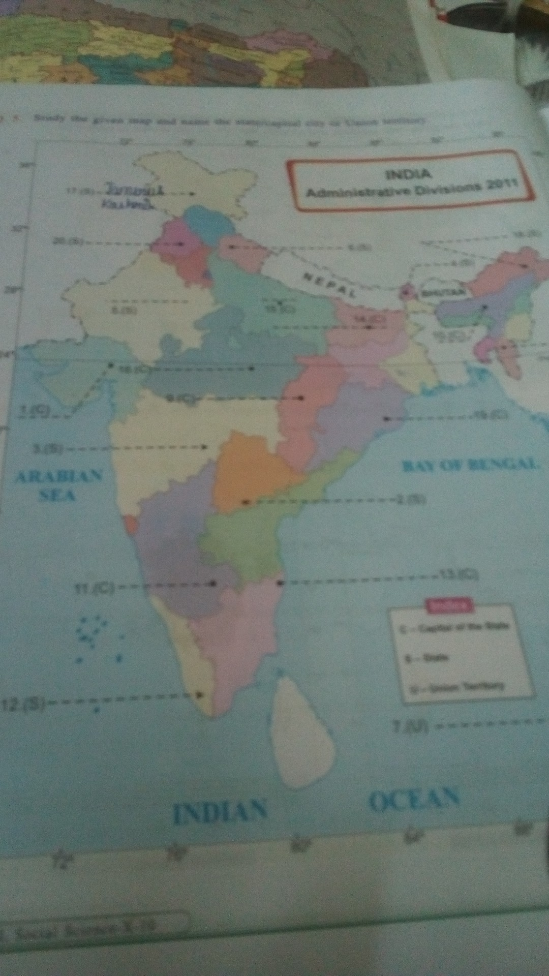 Capital City Of India Map on