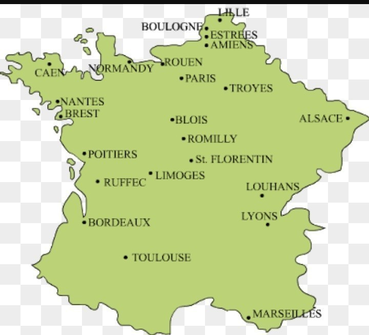 Outline Of Map Of France.Map Work In French Revolution Brainly In