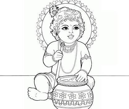I Want Drawings For Janmashtami Easy And Beautiful Lord Krishna