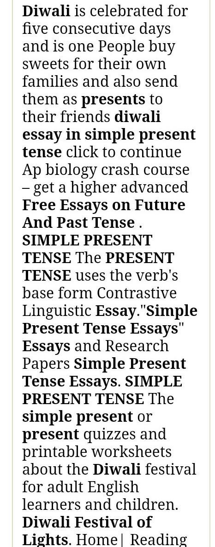 High School Essay Writing  Essays On Science also High School English Essay Topics Essay On Diwali In Simple Present Tense   Brainlyin Living A Healthy Lifestyle Essay