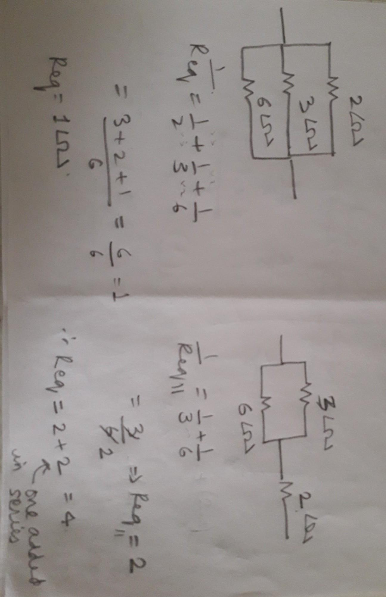 e1f801a2f7ef04 How can three resistors of resistance 2ohm,3ohm and 6 ohm be ...