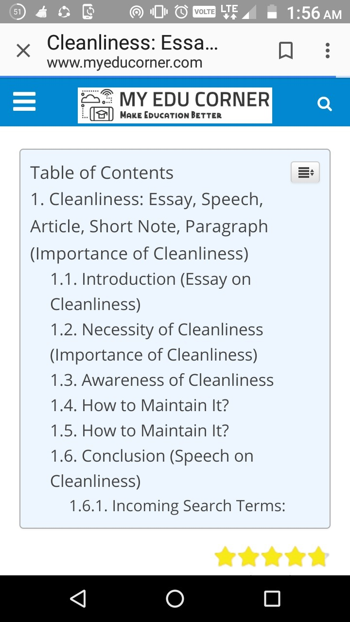 short essay on importance of cleanliness