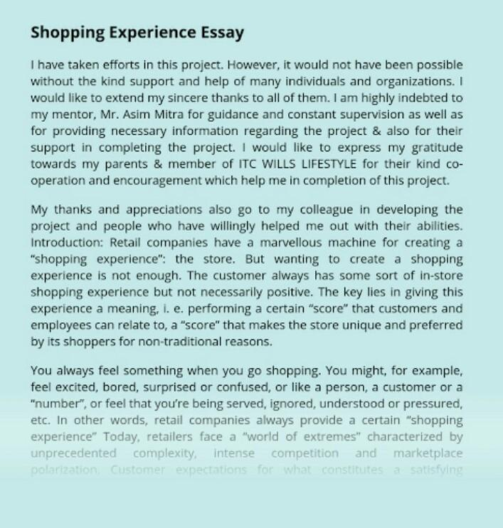 Most unusual shopping experience essay resume writing scams