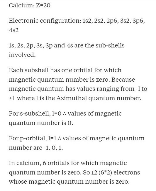Write Down The Electronic Configuration Of Calcium 20 And Give All 4 Quantum Number For 18th Electron Brainly In