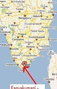 kanyakumari in india map Give The Location Of Kanyakumari On The Map Of India kanyakumari in india map