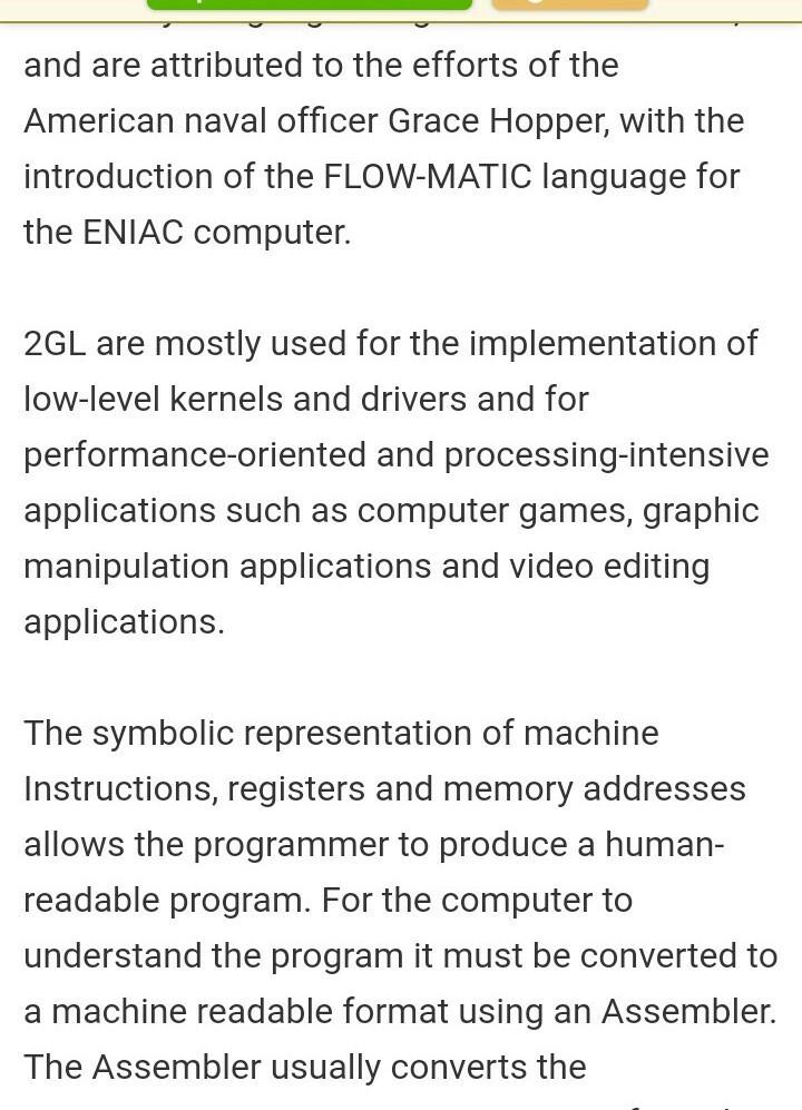 short notes on computer generation