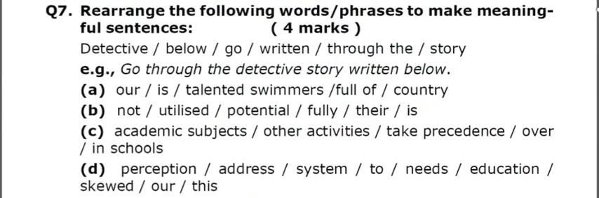 rearrange the following sentences - Brainly in