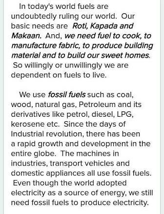 save fuel for better environment essay in English for 8-9 grade ...