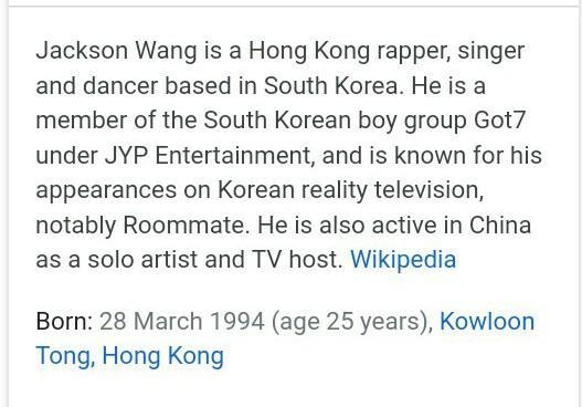 Anyone know jackson wang? A singer who are come from hong kong of