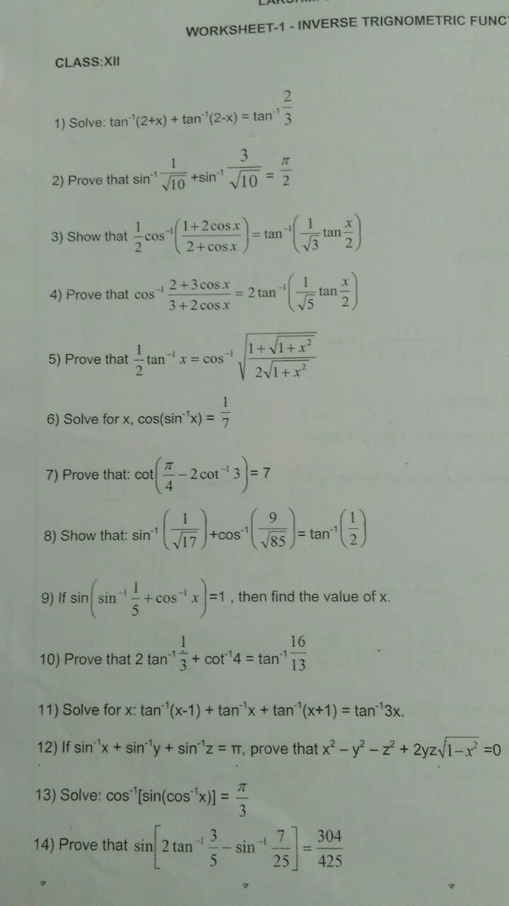 can anyone help me with my maths worksheet on inverse trigonometry  download jpg