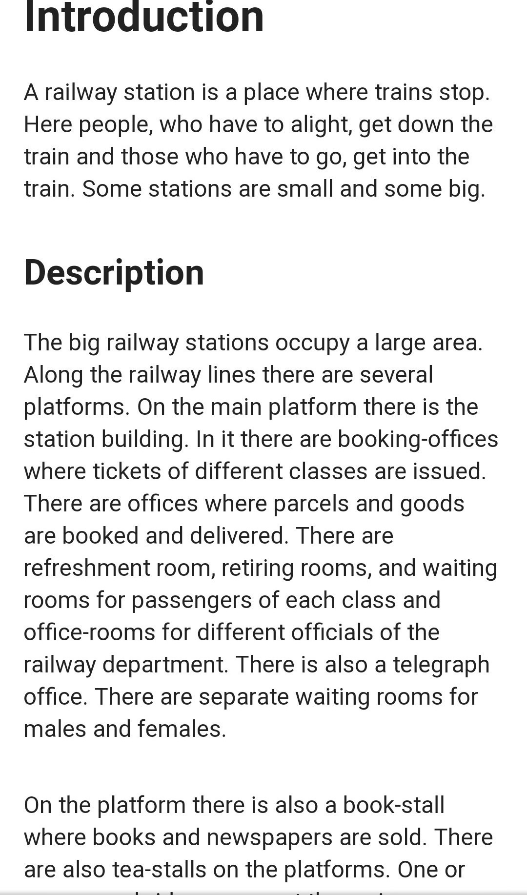 at the railway station essay help