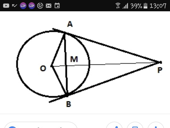 _^Help please?In the given figure AB is a chord of a circle with ...