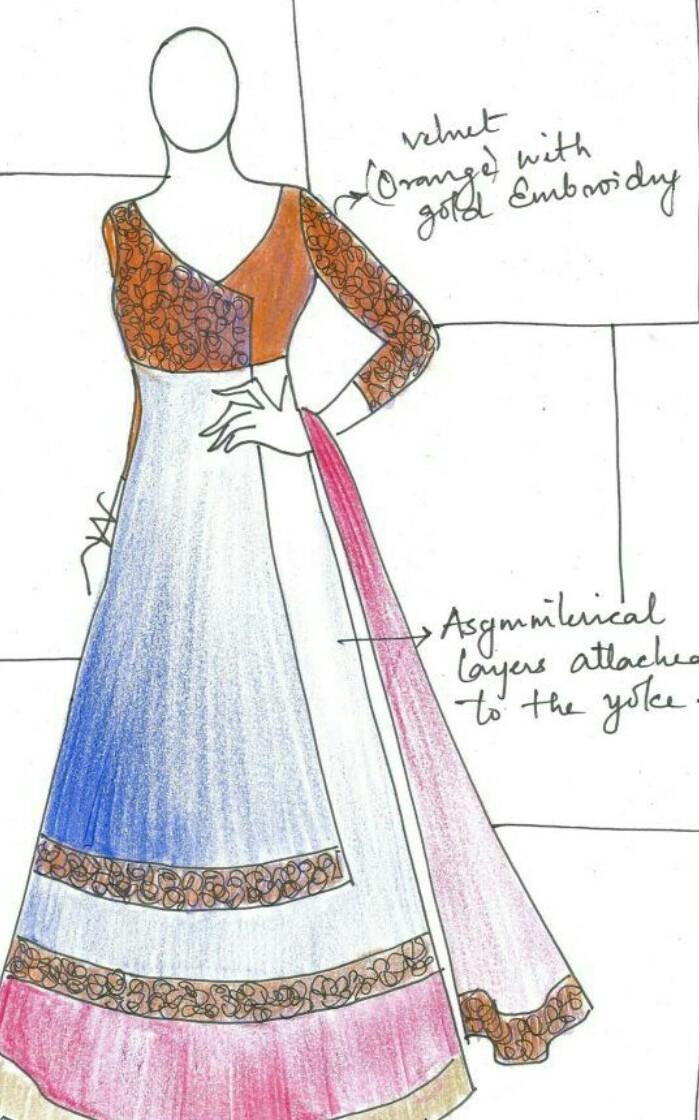 Fashion Designing Sketches By Manish Malhotra Brainly In