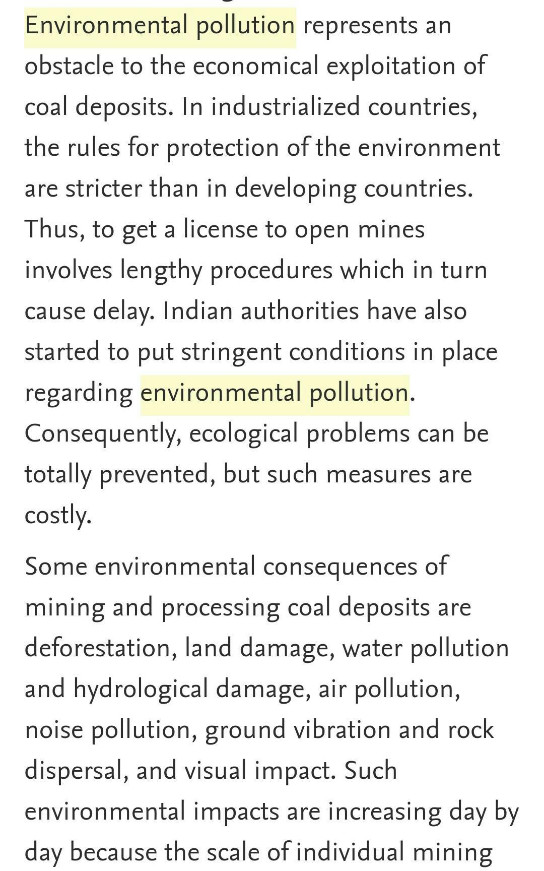 essay about environment pollution
