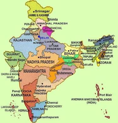 India Map With All States.Locate All States And Cities In India Map Brainly In
