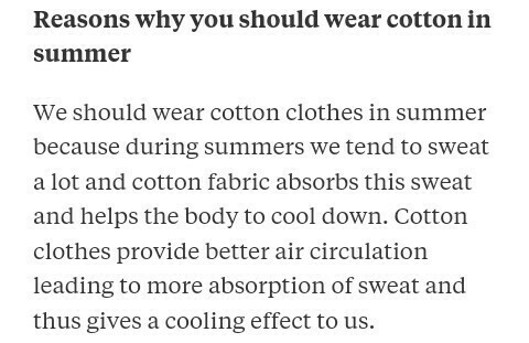 91232754b31 Why do we prefer cotton clothes over nylon clothes in summer ...