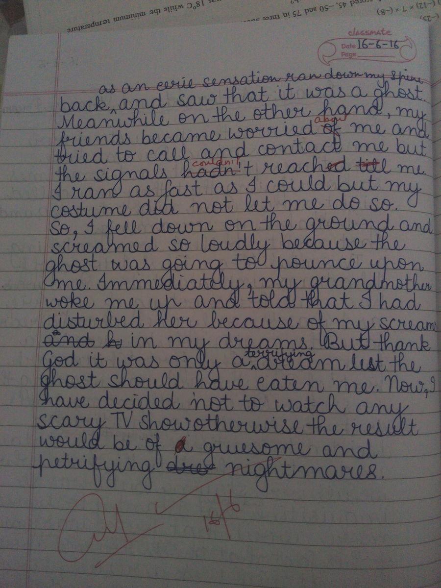 Scary experience essay