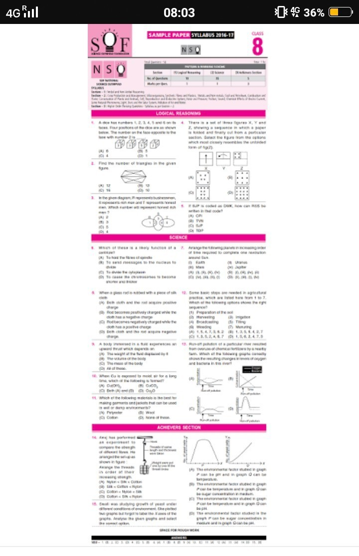 Imo sample papers for class 8
