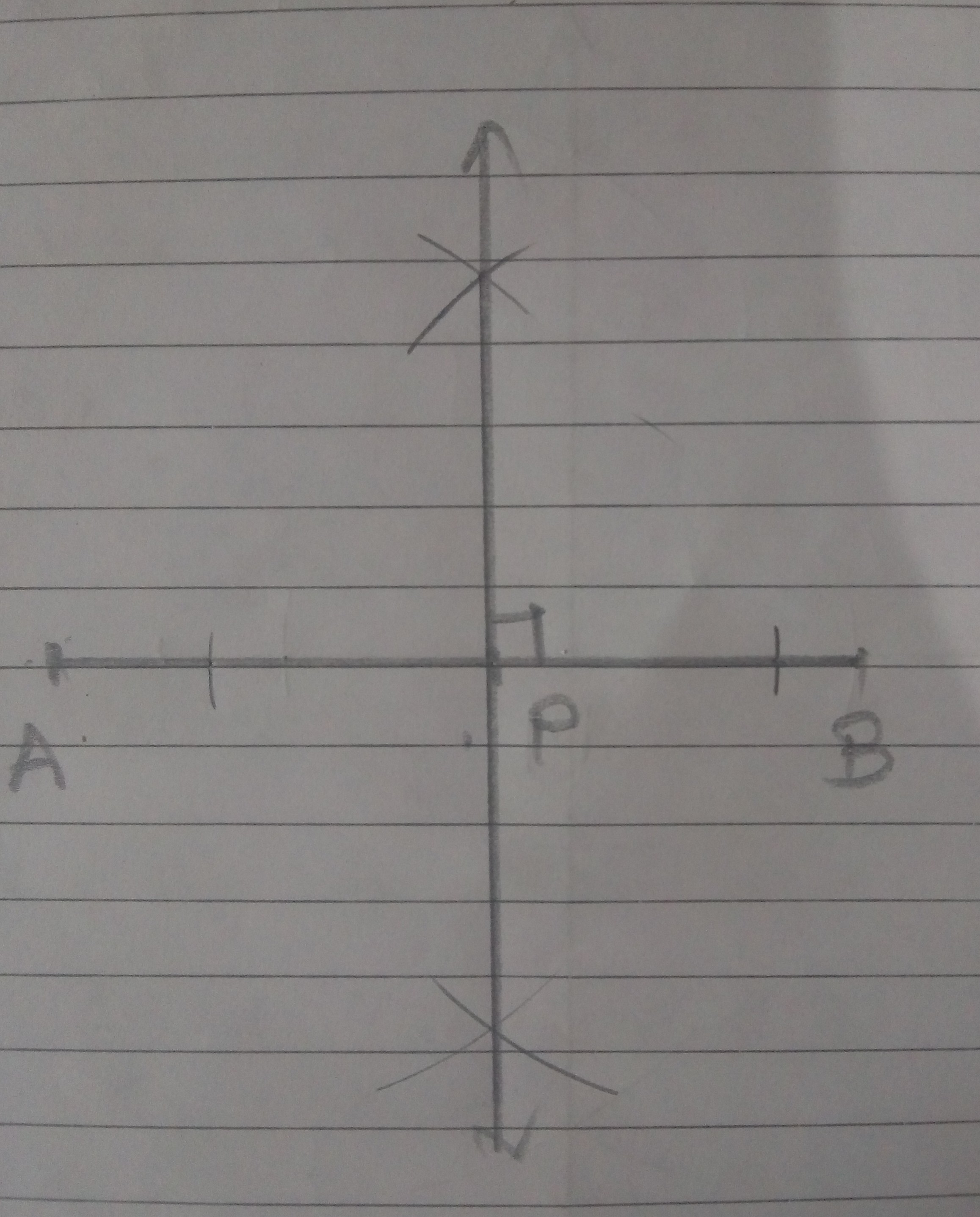 Draw A Line Segment Ab 8cm Mark A Point P On Ab Such That Ap 4 5 Cm