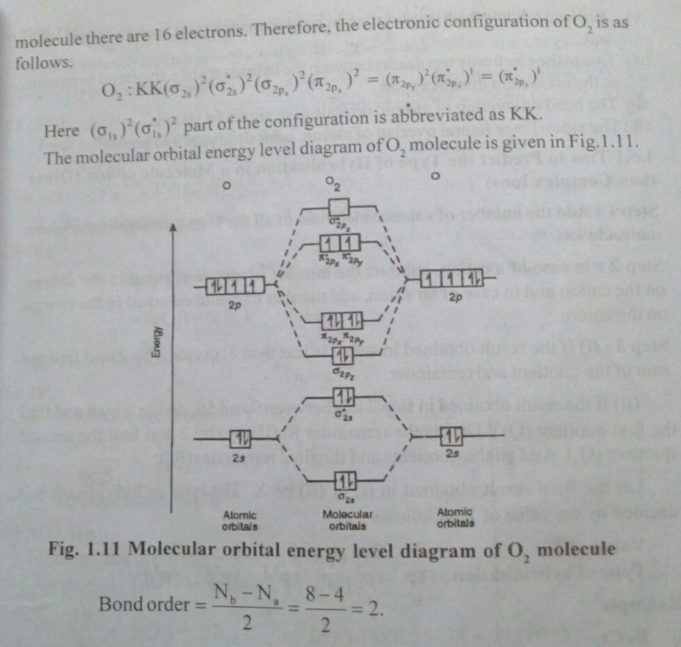 Explain The Formation Of O2 Molecule By Molecular Orbital Theory M O T Brainly In