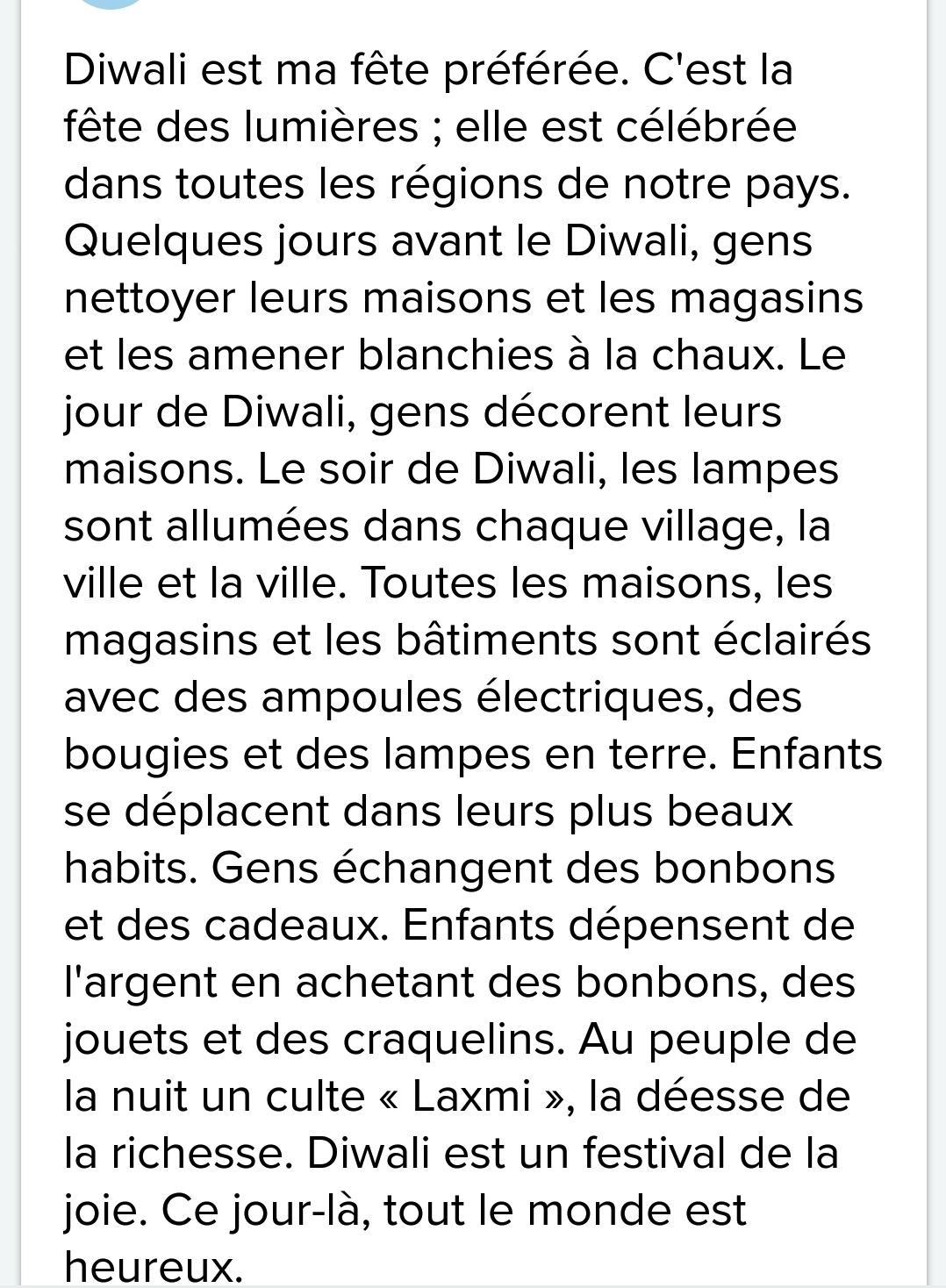 short essay on deepawali