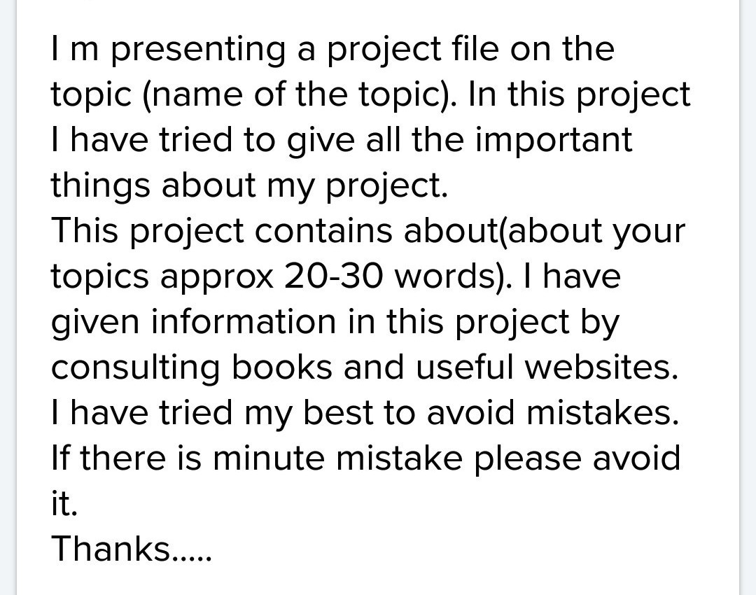 how to write a school project
