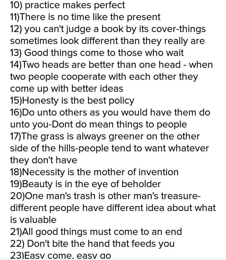 25 proverbs with meaning and example - Brainly in