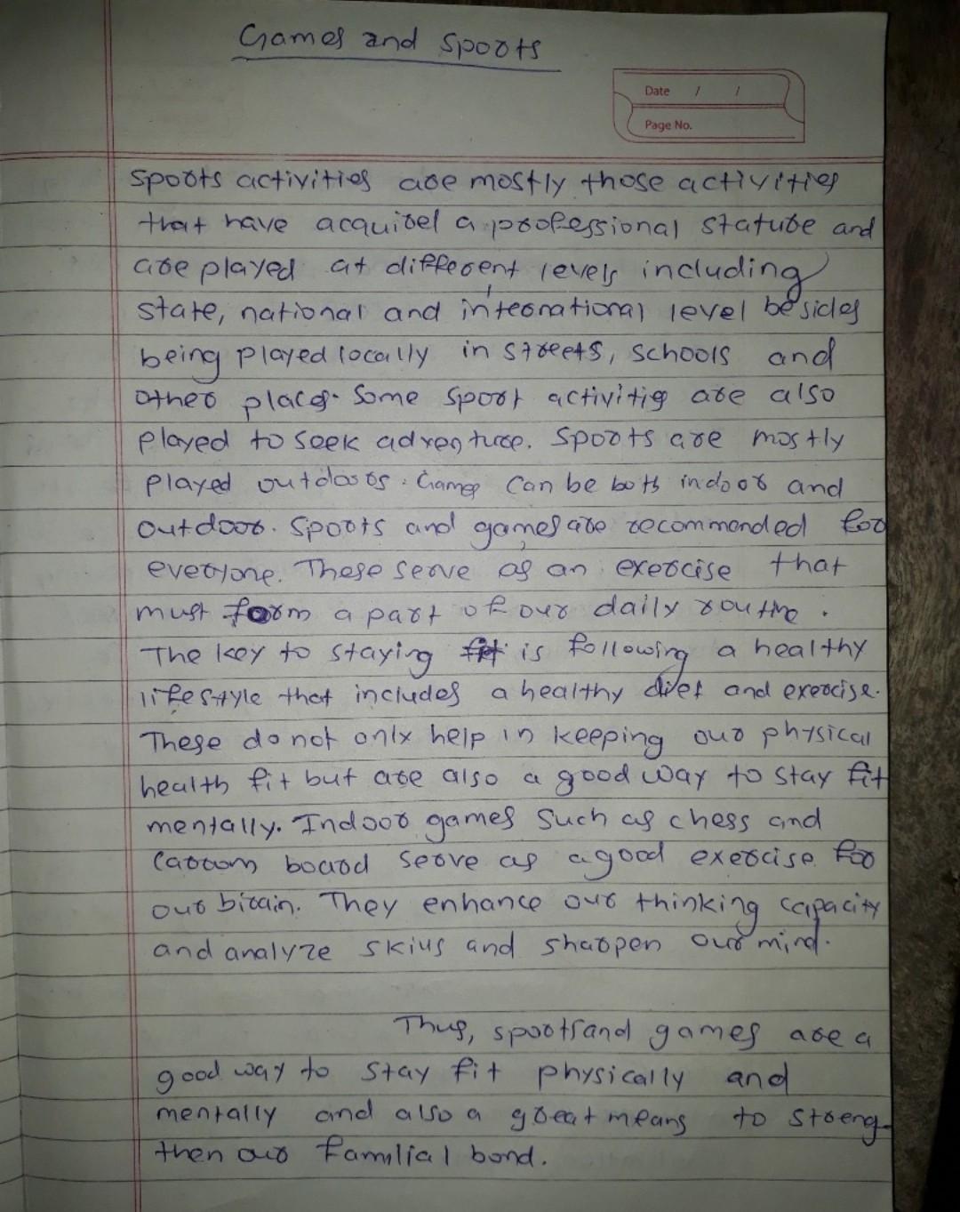 A paragraph on good sportsmanship     (100-150 words
