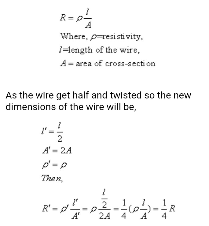 a piece of wire of resistance 4 ohm is bent through 180 degree at ...