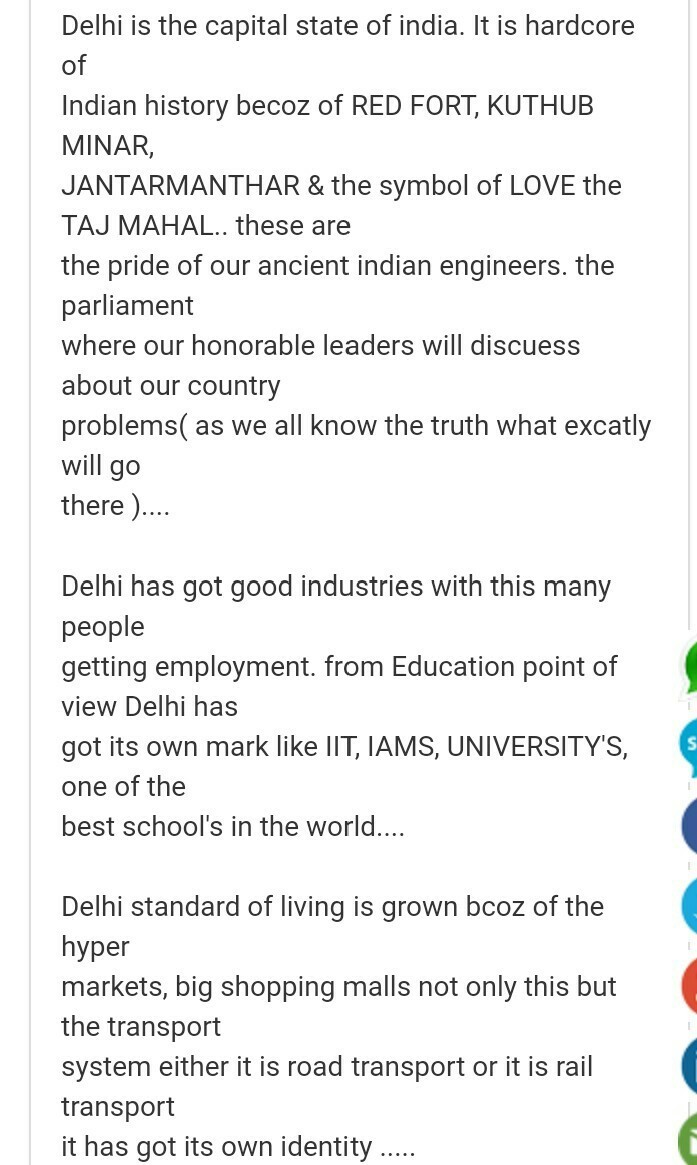 Tell Me Something About Delhi Brainly