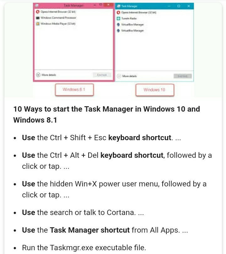 tell the short key that will used to open window task