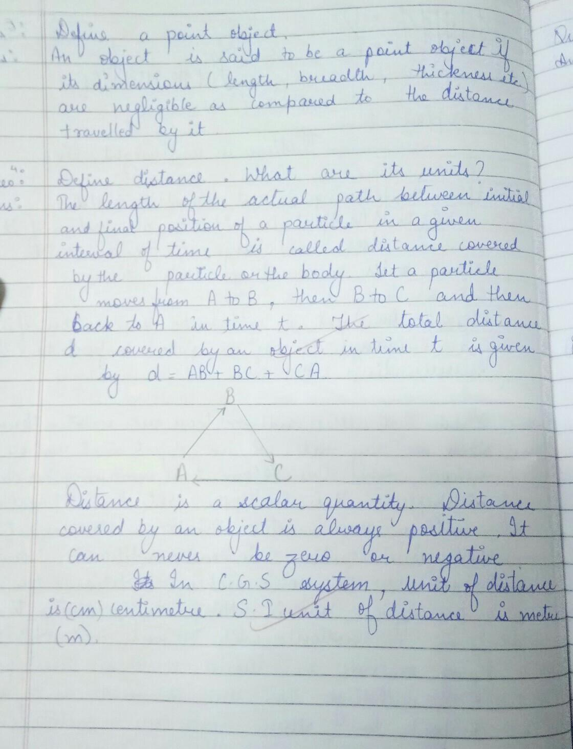 CLASS 11 CH 3 PHYSICS NOTES ONLY HANDWRITTEN - Brainly in
