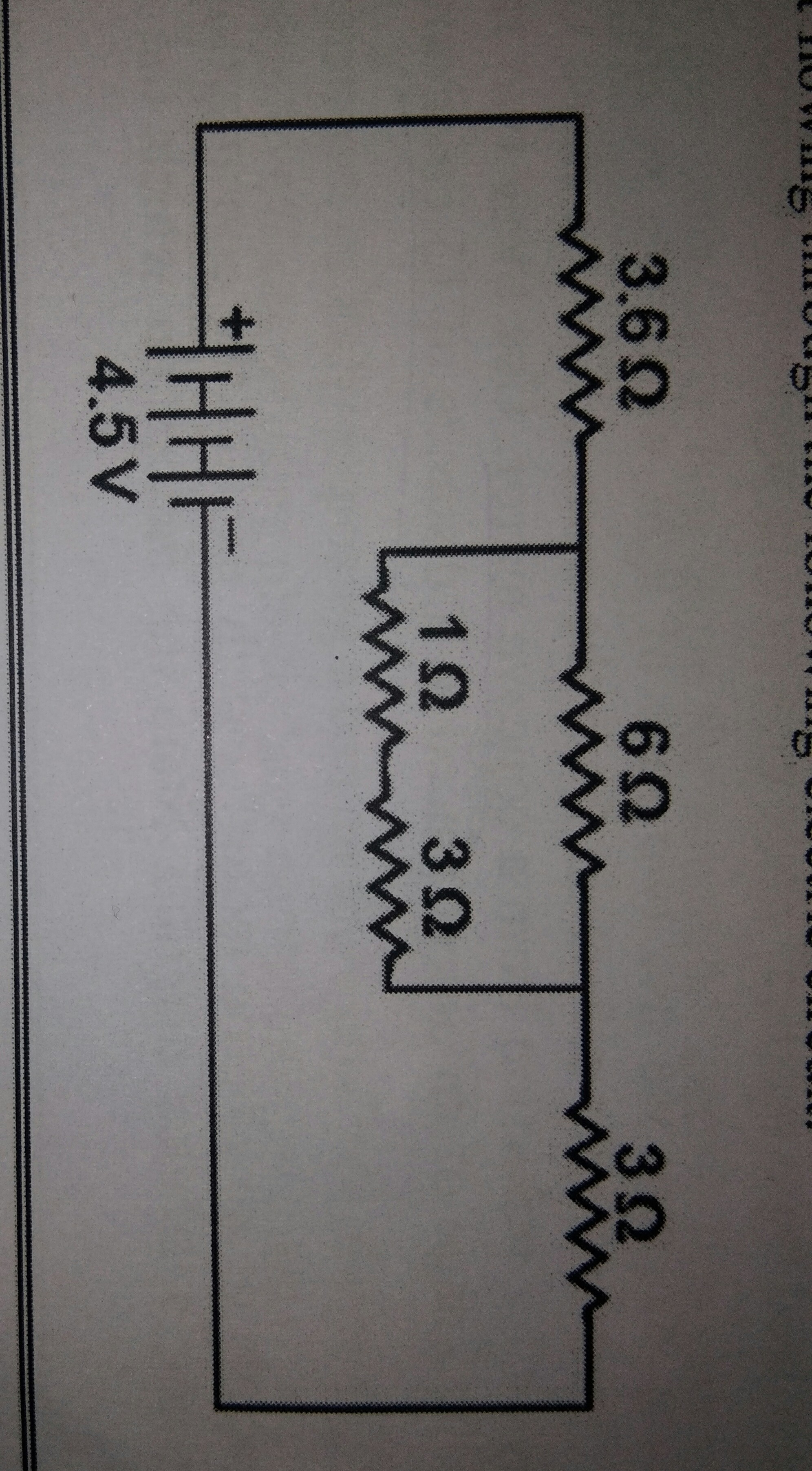 find the current flowing through the following electric circuit ...