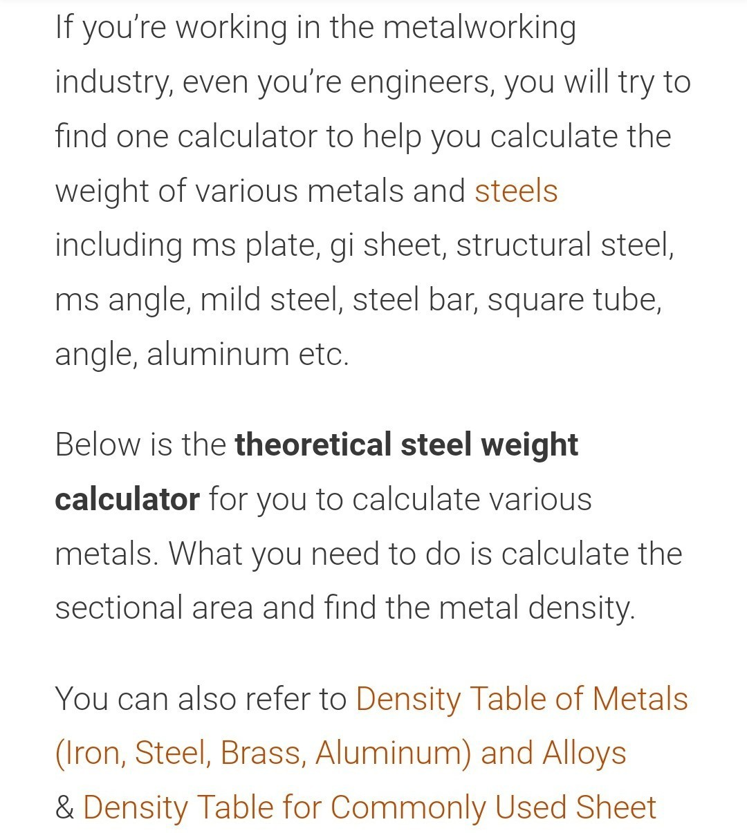 Formula For Mild Steel Beam For Weight Calculation Brainly In