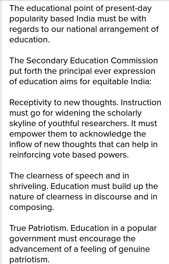 aims of modern education