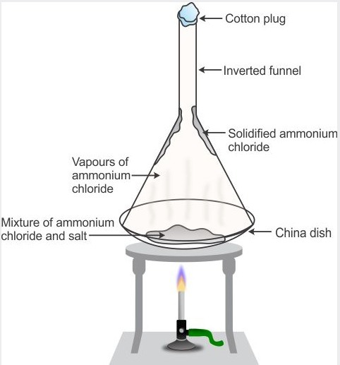 What Is Sublimation Draw A Labelled Diagram Of The Experiment Set