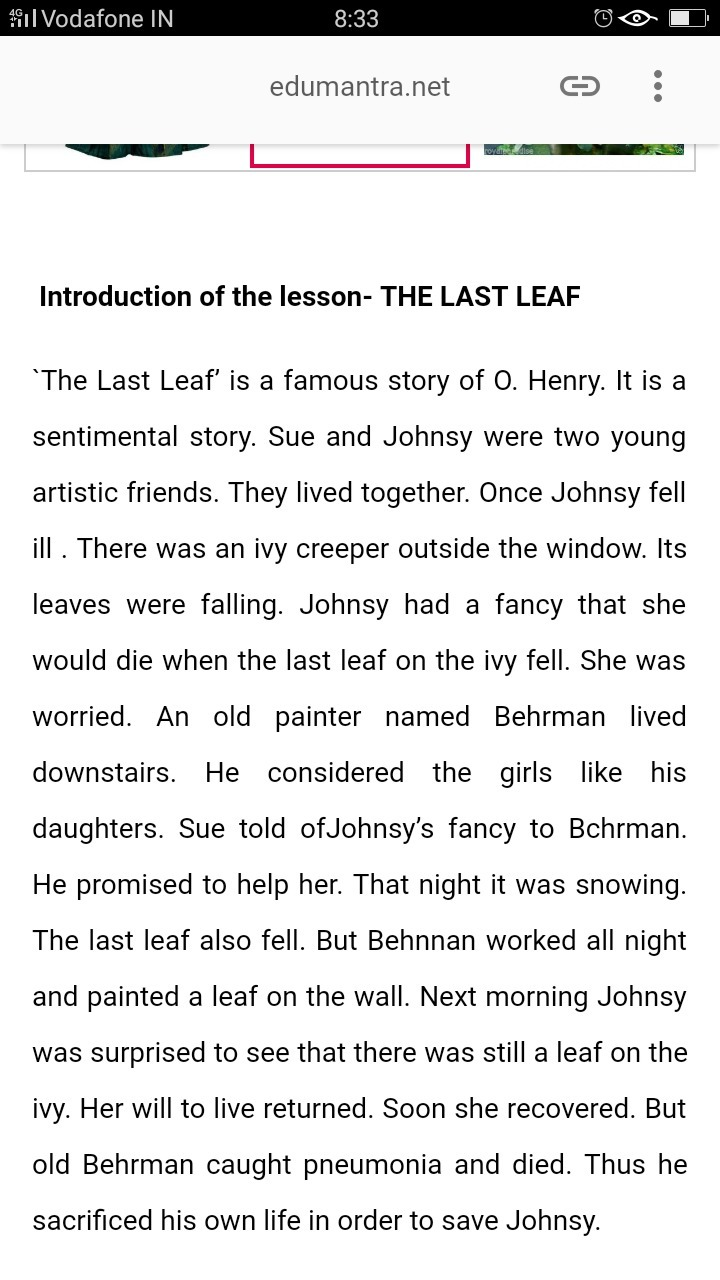 introduction of the last leaf