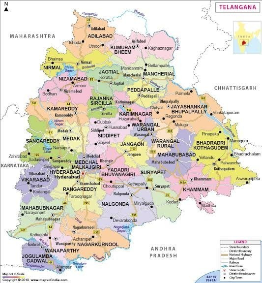 Hyderabad embly constituencies map - Brainly.in on