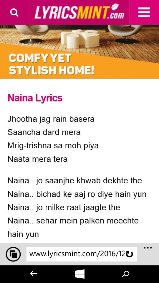 Naina Song With Lyrics Health Tips And Music