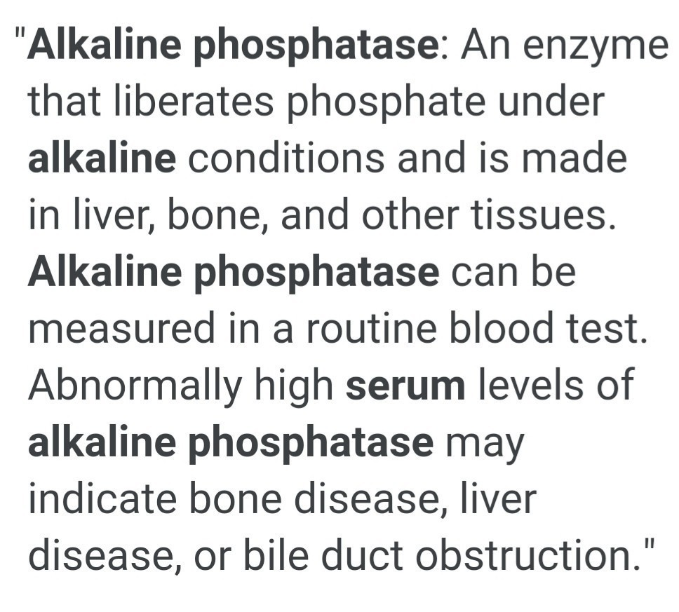 What is the meaning of serum alkaline phosphatase? - Brainly in