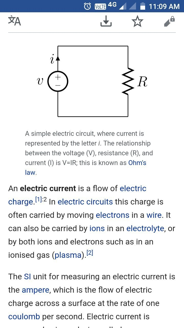 how do we expect electric current simple definition - brainly.in